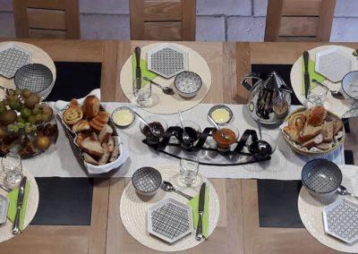 petit déjeuner maison d'hôtes