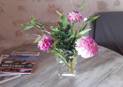 accueil fleuri